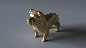 3D bulldog sculptures
