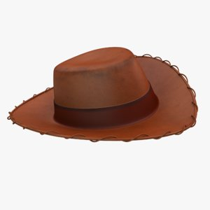 sheriff woody hat 3D