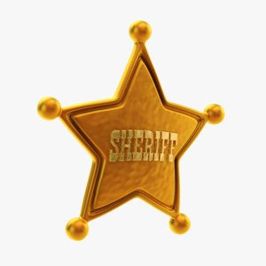 3D model sheriff woody star