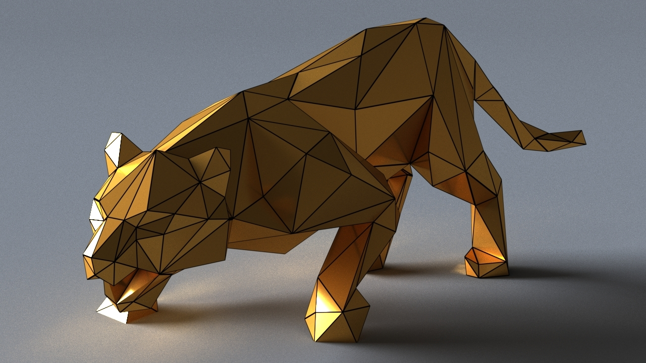 tiger sculptures 3D model