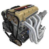 4a-ge engines formula atlantic 3D model