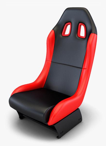 car racing seat v 3D model