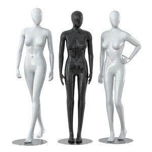 3D faceless female mannequins model