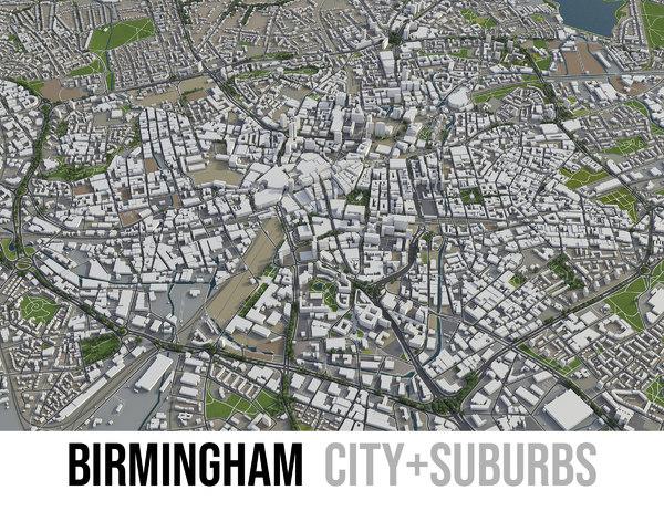 city surrounding - 3D model