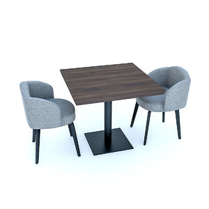 cafe tables chairs 3D