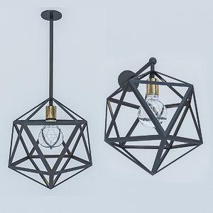 3D loft lamp