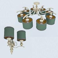 3D classic lamp model
