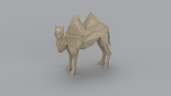 sculpting camel 3D model