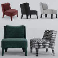 armchairs cecile isabelle meridiani 3D
