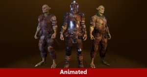 3D pbr orc characters