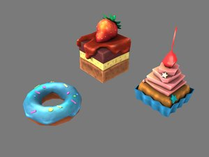 3D baking stylized begel model