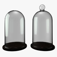 3D set bell jar dome