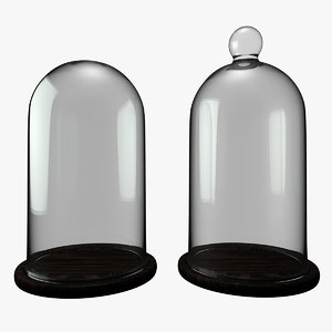3D set bell jar dome