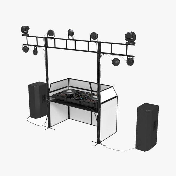 dj booth 3D model