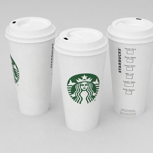 3D coffe cup