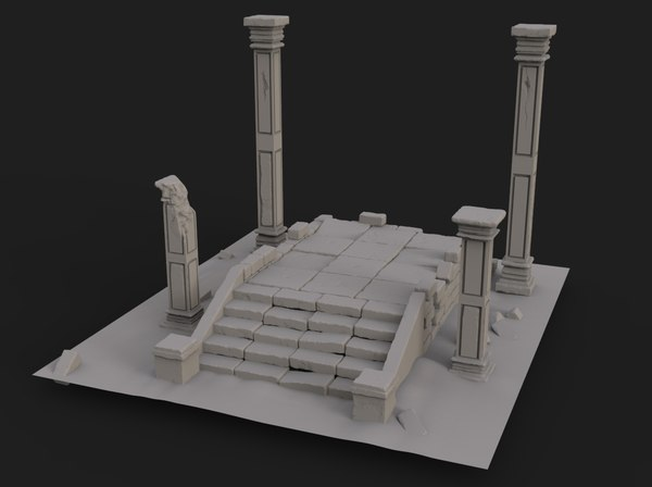 old ruin model
