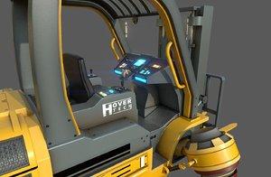 3D hover forklift truck model