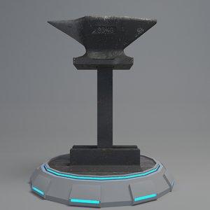 industry tool anvil 3D model