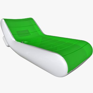 inflatable air mattress white 3D