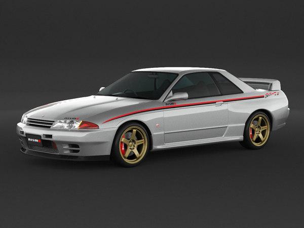 3D car nissan skyline r32 model