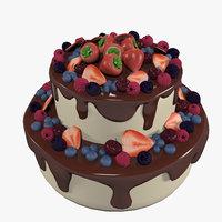 sweet berry cake model