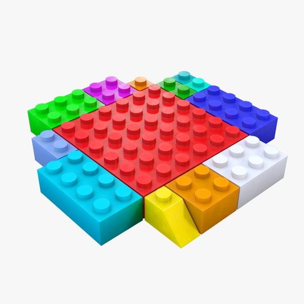 lego brick 3D model