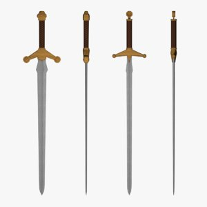 fantasy medieval weapon pack 3D model