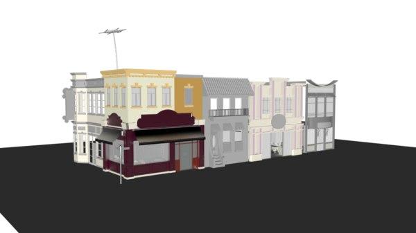 corner houses 3D model
