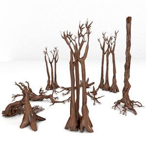 dead plant tree 3D model
