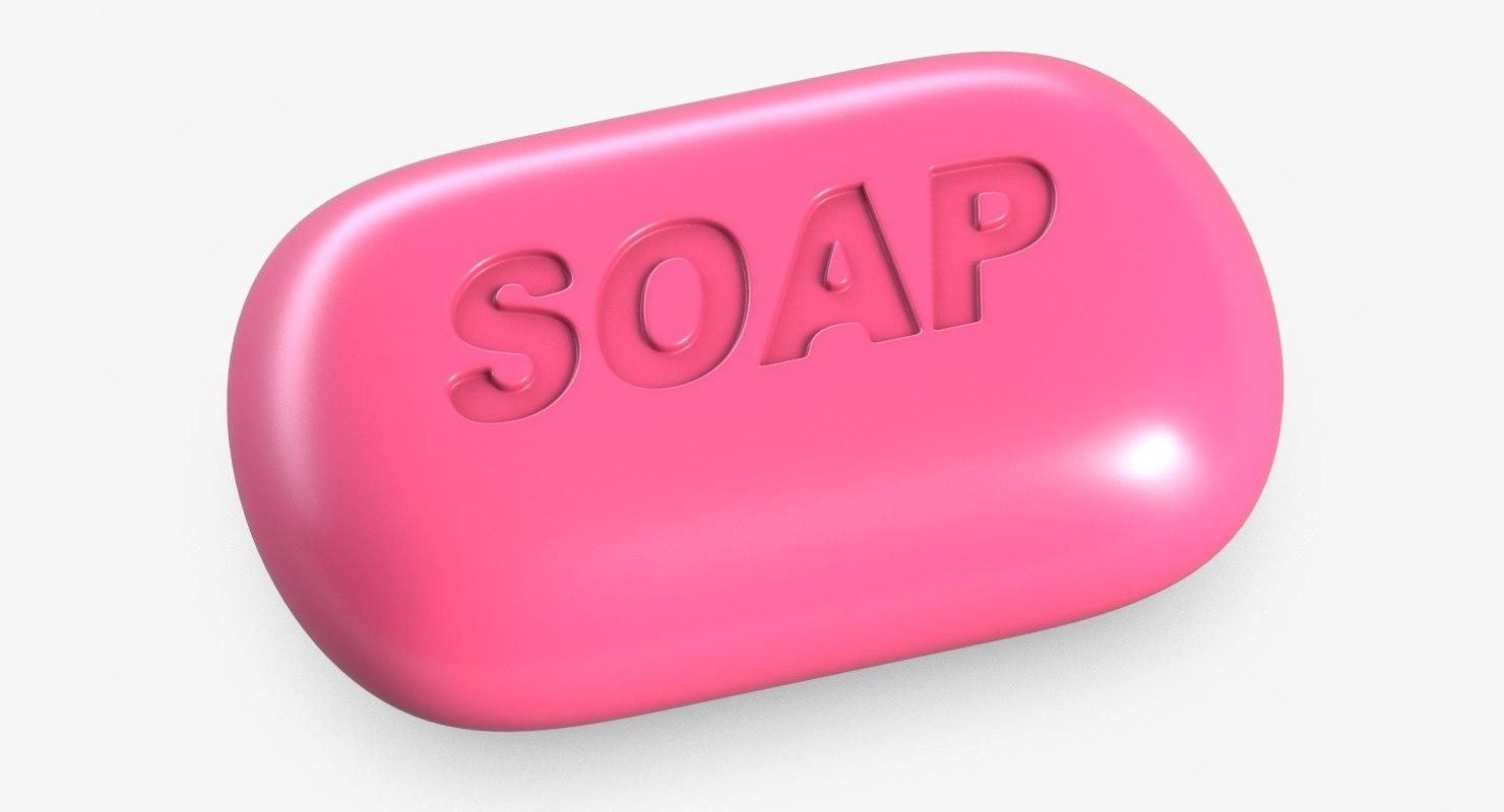 3D pink soap