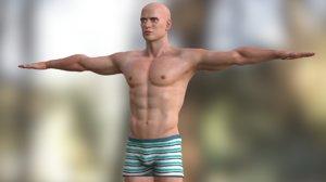 male character model