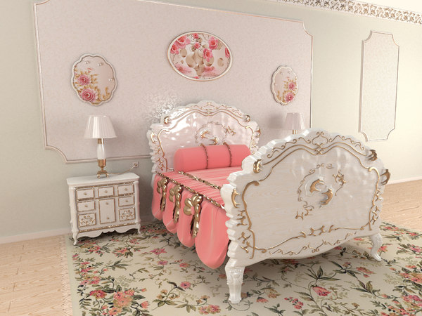 3D carved bed model