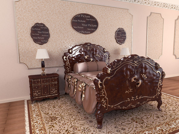 3D carved bed