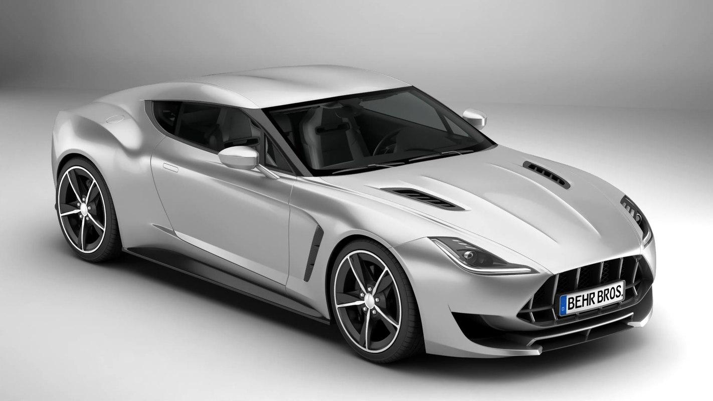 3D generic sport coupe