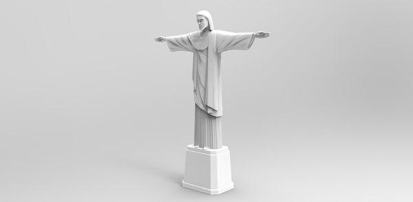 3D model jesus christ redeemer