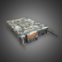 modern military radio camouflage 3D model