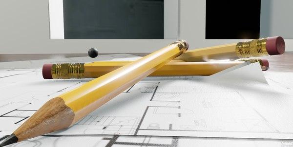 pen pencils 3D
