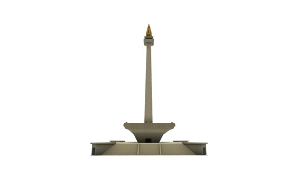 national monument monas indonesia 3D