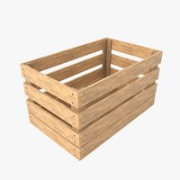 wooden box 3D