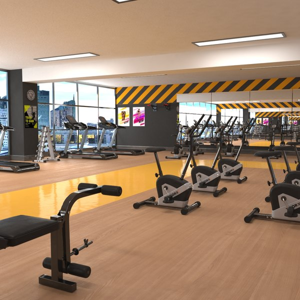gym fitness weights model