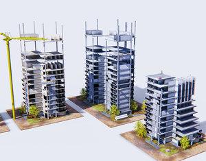 construction buildings 3D model
