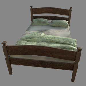 old bed pillows 3D model