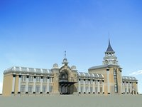 3D european architecture 43