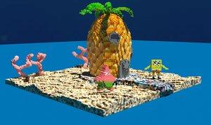 voxel spongebob 3D model