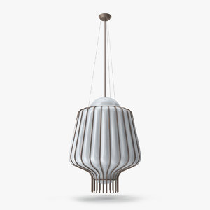 3D fabbian lamp light model