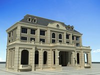 3D european architecture europe