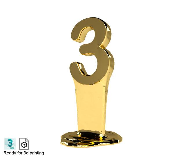 3D number model