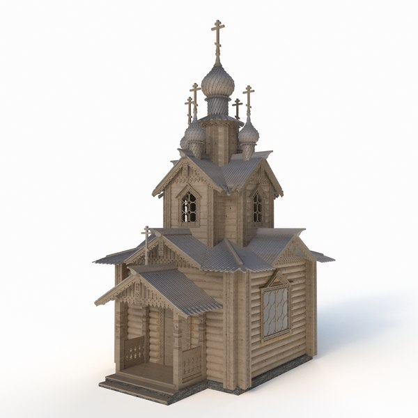 3D russian orthodox temple