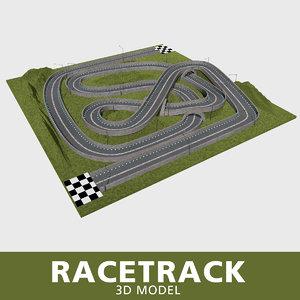 racetrack street lights 3D model