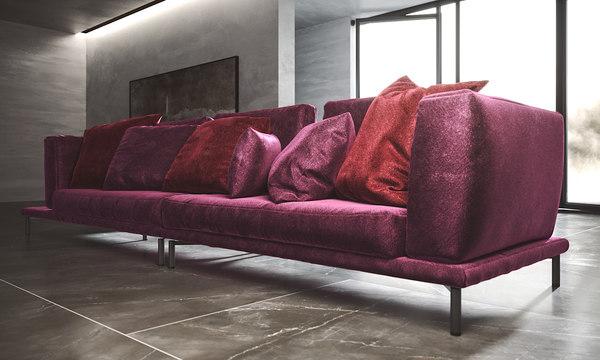 modern sofa scene model